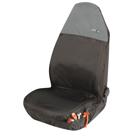Universal Protective Car Seat Cover Outdoor Sports   Black & Grey