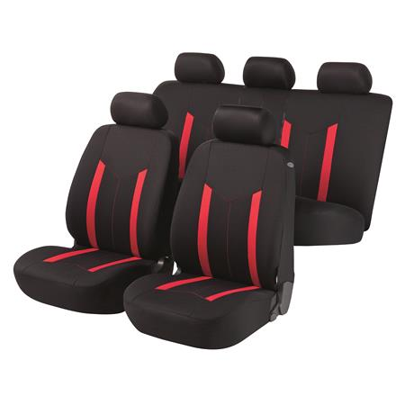 Hastings Car Seat Cover   Black & Red For Mercedes GL CLASS 2012 Onwards