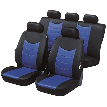 Felicia car seat cover   Black & Blue For Mitsubishi OUTLANDER 2003 to 2006