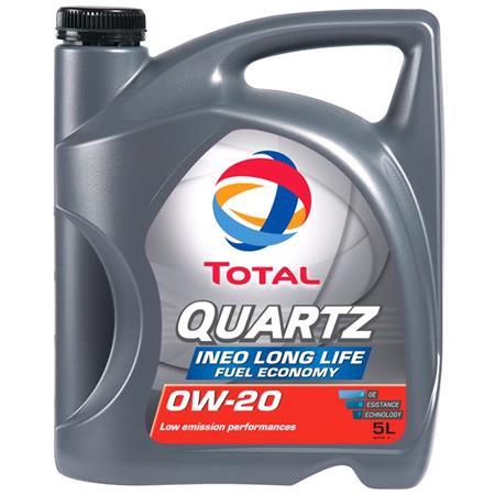 TOTAL Quartz INEO LONG LIFE 0W 20 Engine Oil   5 Litre