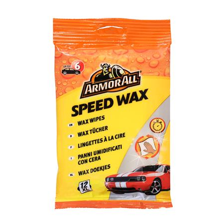ArmorAll Speed Wax Wipes   Pack of 12