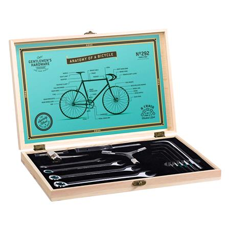 Gentlemen's Hardware Bicycle Tool Kit in Premium Wooden Box