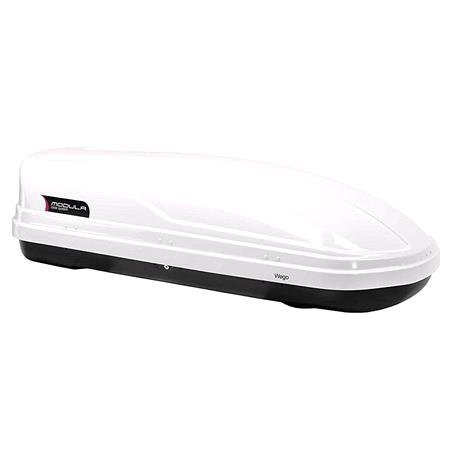 WEGO 450L White Roof Box, Double side opening