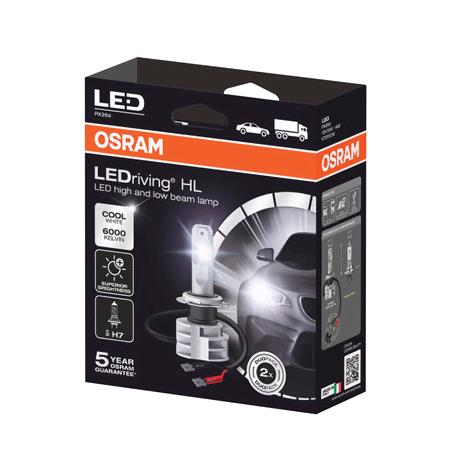 Osram 12/24V 16.9W Cool White LED Driving GEN Off Road H7 Bulbs   Twin Pack