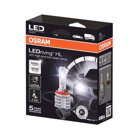 Osram 12/24V 14W LED Driving Off Road Cool White H11 Bulbs   Twin Pack