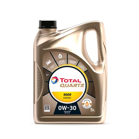 TOTAL Quartz 9000 Energy 0w30 Fully Synthetic Engine Oil. 5 Litre