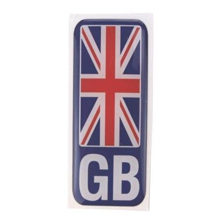 Number plate sticker   GB union Jack   Polydome