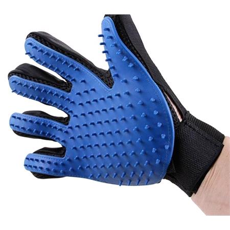 Pet Grooming Glove and Massager, Catches Hair!
