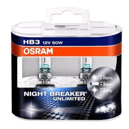 Osram Night Breaker unlimited HB3 Bulb    Twin Pack
