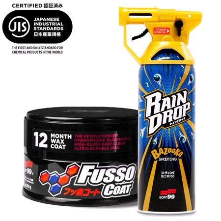 Soft99 Set   Fusso 12 Month Coat Dark and Rain Drop Gloss Booster