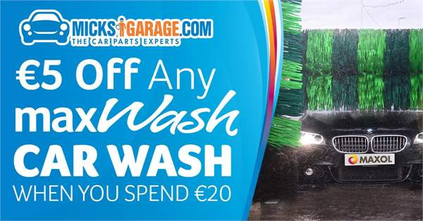 €5 Off Any Max Wash Car Wash For MicksGarage Customers