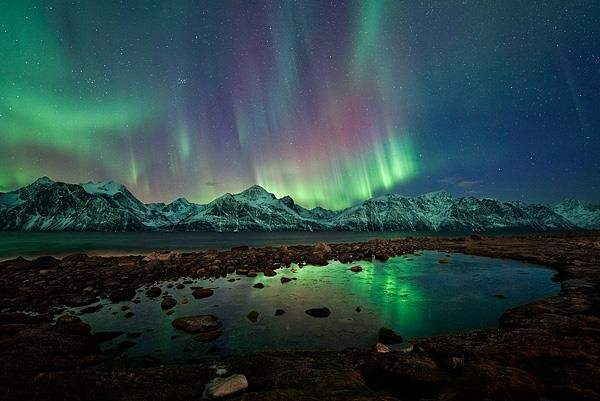 A Guide to Driving in Scandinavia nortern-lights-over-the-lyngan-alps-in-tromso-norway