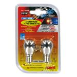 12V Single filament lamp   P21W   21W   BA15s   2 pcs    D/Blister   Chrome/Red