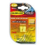 12V Colour Led, lamp 1 Led   (T10)   W2,1x9,5d   2 pcs    D/Blister   Amber