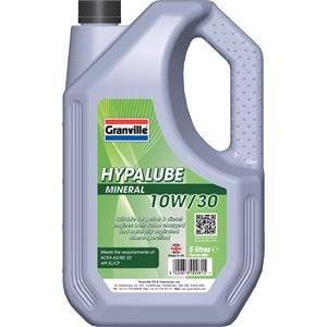Engine Oils and Lubricants, *CLEARANCE* Hypalube Mineral Oil 10W30 - 5 litre, Granville