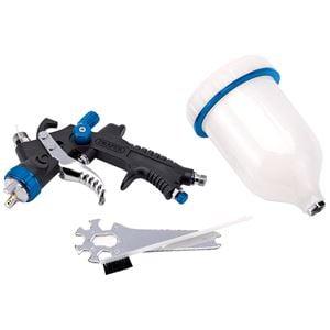 Spray-Painting Equipment, Draper 09707 HVLP Air Spray Gun with Composite Body and 600ml Gravity Fed Hopper, Draper