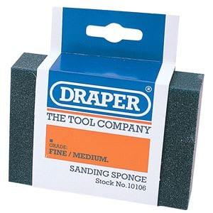 carpenters tools, Draper 10106 Fine - Medium Grit Flexible Sanding Sponge, Draper
