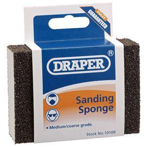 Sanding, Filing and Finishing, Draper 10109 Medium - Coarse Grit Flexible Sanding Sponge, Draper