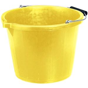 Buckets, Draper 10636 Bucket - Yellow (14.8L), Draper