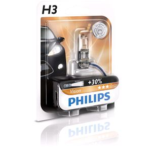 Bulbs - by Bulb Type, Philips Vision H3  Bulb  - Single, Philips