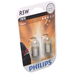 Bulbs - by Vehicle Model, Philips R5W License Plate Bulbs(Pair) for Ssangyong Musso Suv 1995 - 1999, Philips