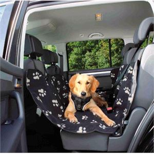 Dog and Pet Travel Accessories, Plush Rear Seat Protector - Warm Polar Fleece , Trixie