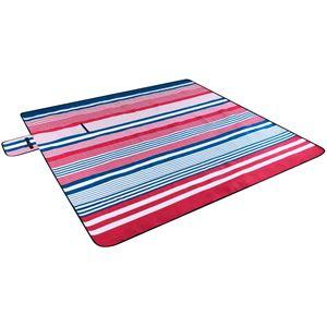 Travel and Leisure, Travel Blanket Aluminium Backside - Red/ Blue Stripe, Walser