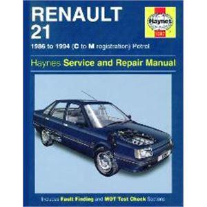 Haynes DIY Workshop Manuals, Renault 21 Haynes Manual,  Petrol (86 - 94), Haynes