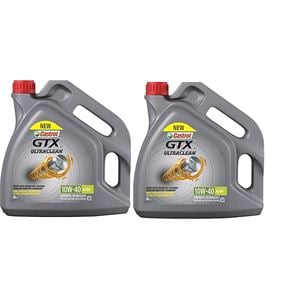 Engine Oils and Lubricants, Castrol GTX Ultraclean 10w40 A3/B4 Semi Synthetic Engine Oil. 8 Litre, Castrol