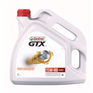 Engine Oils and Lubricants, Castrol GTX 15W40 A3/B3 Fully Synthetic Engine Oil. 4 litre, Castrol