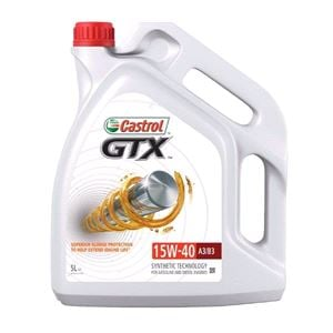 Engine Oils and Lubricants, Castrol GTX 15W-40 A3/B3 Fully Synthetic Engine Oil. 5 Litre, Castrol