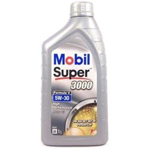 Engine Oils and Lubricants, Mobil Super 3000 Formula V 5W30 Engine Oil. 1 Litre, MOBIL