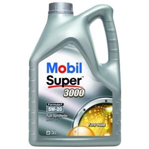 Engine Oils and Lubricants, Mobil Super 3000 Formula F 5W20 Fully Synthetic Engine Oil. 5 Litre, MOBIL
