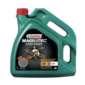 Engine Oils and Lubricants, Castrol Magnatec 5W30 A3-B4 Stop-Start Fully Synthetic Engine Oil. 4 Litre, Castrol