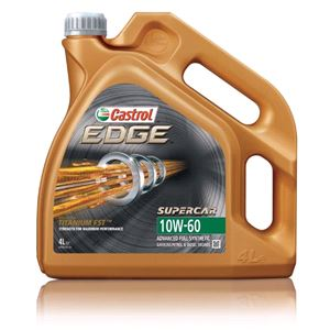 Engine Oils and Lubricants, Castrol Edge Supercar 10w60 Titanium FST Fully Synthetic Engine Oil. 4 Litre, Castrol