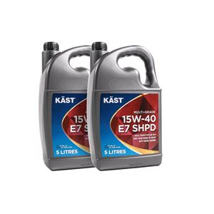 Engine Oils and Lubricants, KAST 15w40 E7 SHPD Multigrade Engine Oil. 10 Litre, KAST