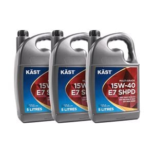 Engine Oils and Lubricants, KAST 15w40 E7 SHPD Multigrade Engine Oil. 15 Litre, KAST