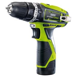 Drills and Cordless Drivers, Draper 16049 Storm Force 10.8V Cordless Hammer Drill with Li-ion Battery, Draper