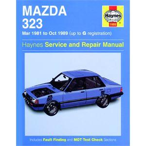 Haynes DIY Workshop Manuals, MAZDA 323 MAR81 TO OCT89, Haynes