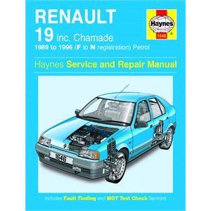 Haynes DIY Workshop Manuals, RENAULT 19 PETROL UPDATE (89-96), Haynes
