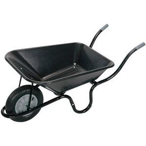 Wheelbarrows, Draper 17993 Plastic Tray Wheelbarrow (85L), Draper