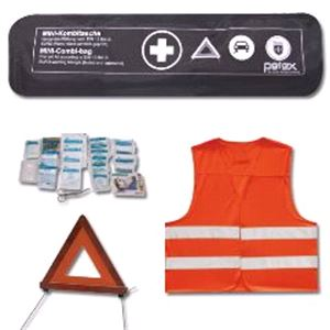 Emergency and Breakdown, Emergency Kit EU Approved - Warning Triangle, First Aid Kit, High Vis Vest ,