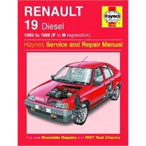 Haynes DIY Workshop Manuals, Renault 19 Haynes Manual,  Diesel (89 - 96), Haynes