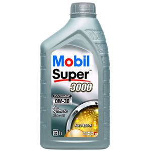 Engine Oils and Lubricants, Mobil Super 3000 Formula F 0W-30 Fully Synthetic Engine Oil - 1 Litre, MOBIL