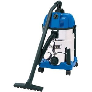 Vacuum Cleaners, Draper 20523 30L Wet and Dry Vacuum Cleaner with Stainless Steel Tank (1600W), Draper