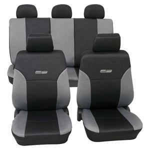Grey U0026 Black Leather Look Car Seat Covers Washable   For Honda Accord  2000 2003