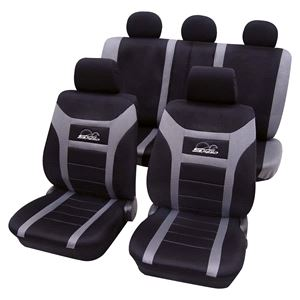Grey Black Car Seat Covers For Ford Fusion 2007 Onwards