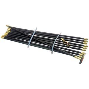 Pipe and Drain Cleaning, Draper 23540 9M Polypropylene Drain Rod Set (12 Piece), Draper