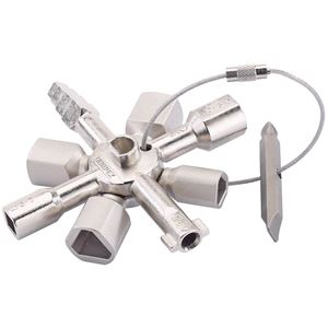 Radiator and Utility Keys, Knipex 23608 Twin Key, Knipex
