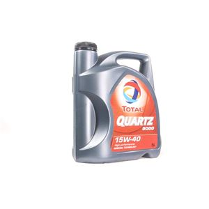 Engine Oils and Lubricants, TOTAL Quartz 5000 15w40 Multigrade Mineral Engine Oil. 5 Litre, Total